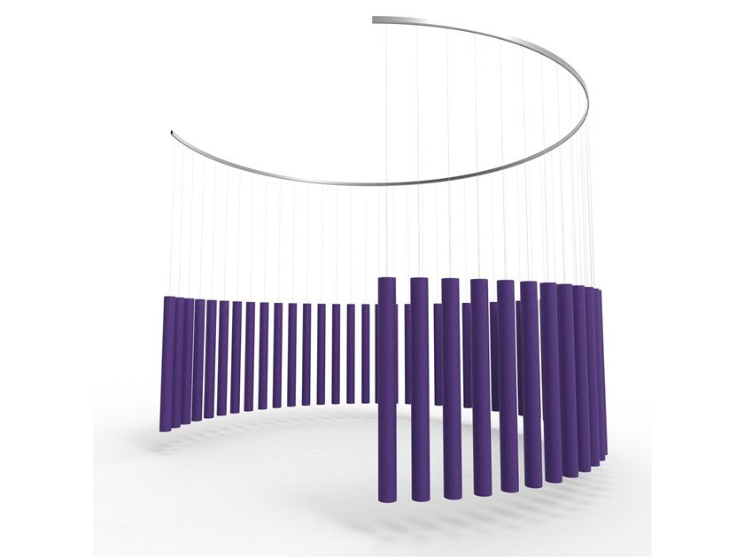 Fabric acoustic baffles SOUNDSTICKS by Offecct