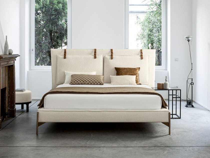 Double bed with upholstered headboard SP2802 BELT by Twils
