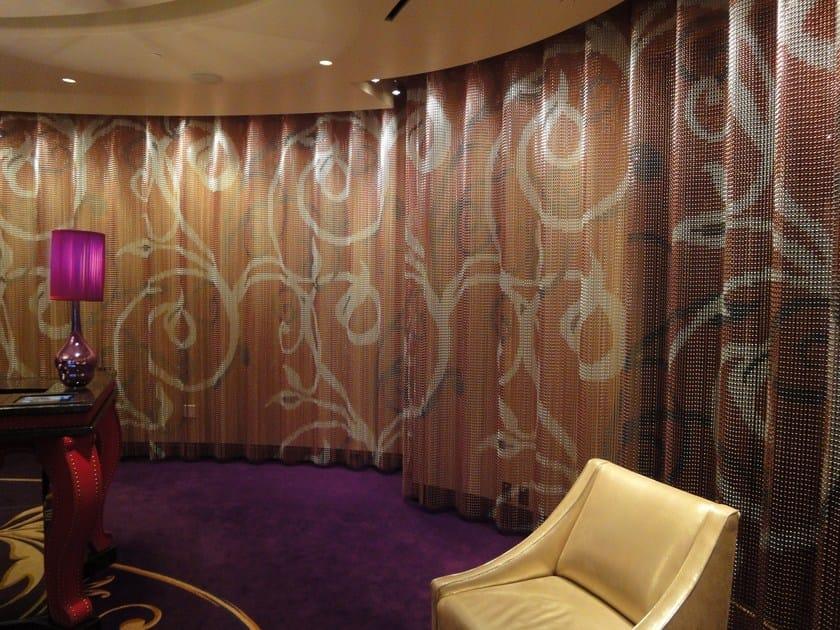 Aluminium chain curtain SPACE DIVIDER - UNDULATED HOTEL by Kriskadecor