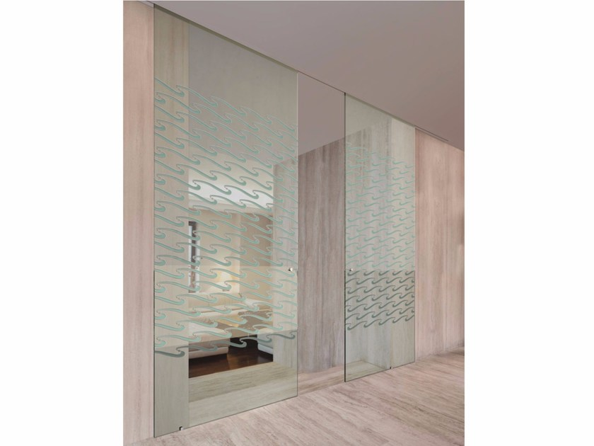 Glass sliding door SPACE SURF by FOA