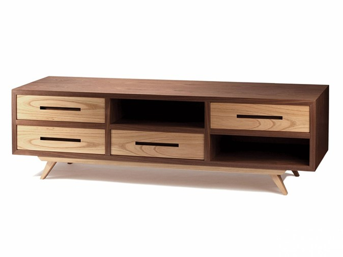 Wooden TV cabinet with drawers SPACE | TV cabinet by Mambo Unlimited Ideas