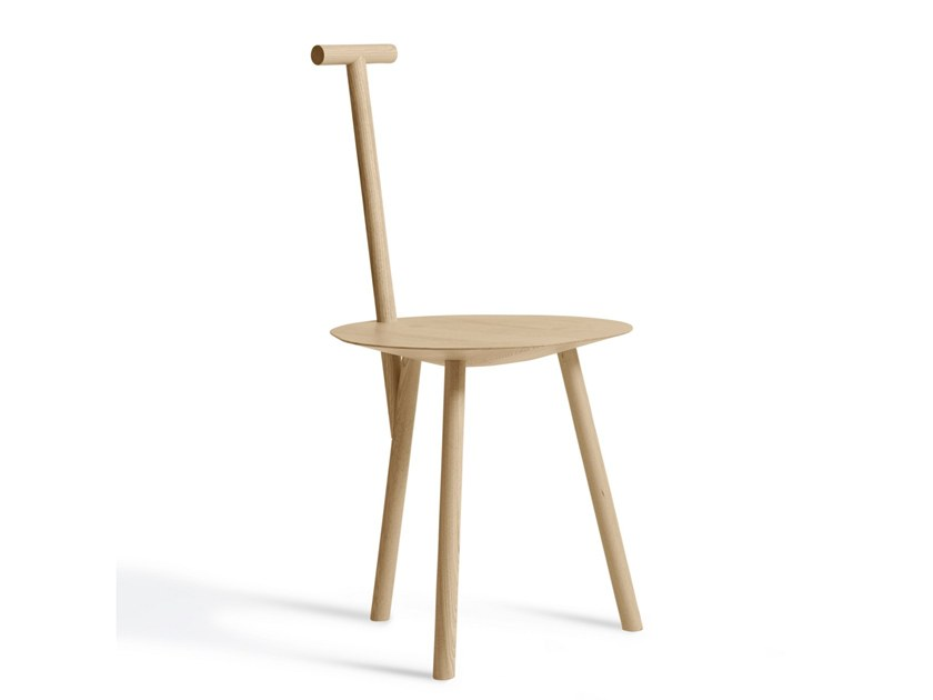 Open back ash chair SPADE by PLEASE WAIT to be SEATED