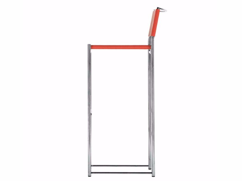 Steel and PVC chair with footrest SPAGHETTI STOOL - 180 by Alias