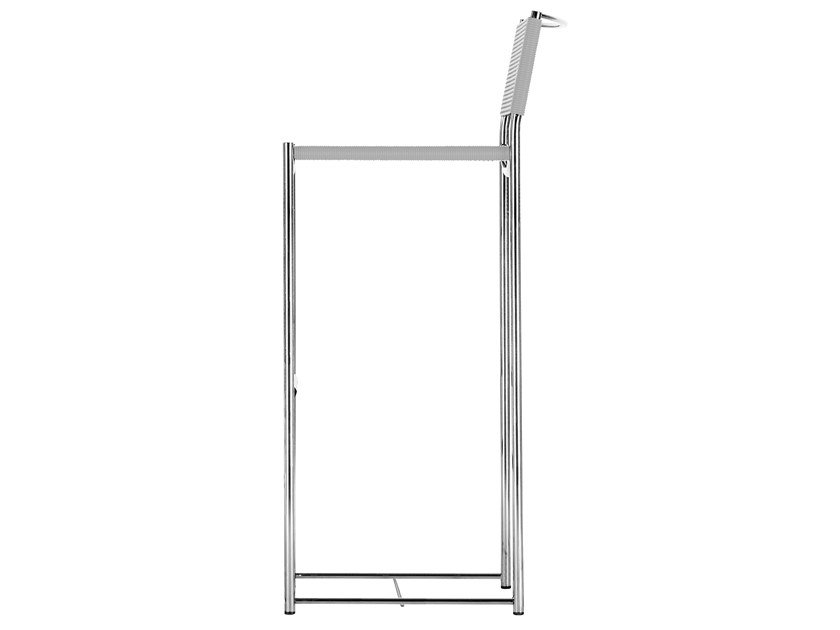 Stuhl aus Stahl und PVC mit Fußstütze SPAGHETTI STOOL - 180 by Alias