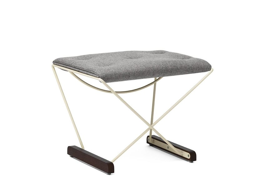 Sled base fabric footstool SPARK   Footstool by Massproductions
