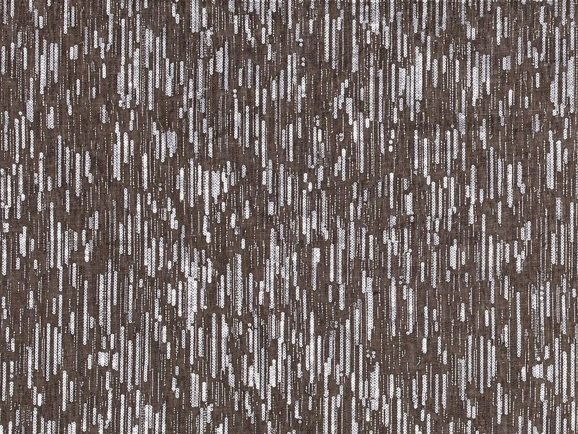 Embroidered linen fabric for curtains SPARKLING WILLOW by Dedar