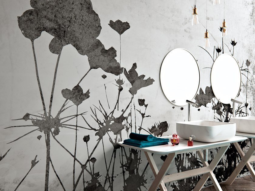 Vinyl wallpaper with floral pattern SPARPAN by Baboon