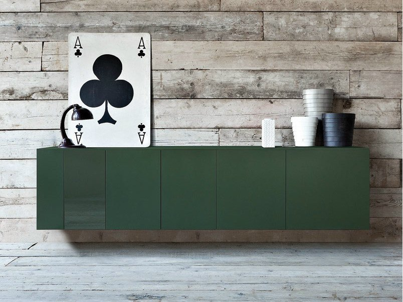 Lacquered suspended sideboard SPAZIO M167 by PIANCA