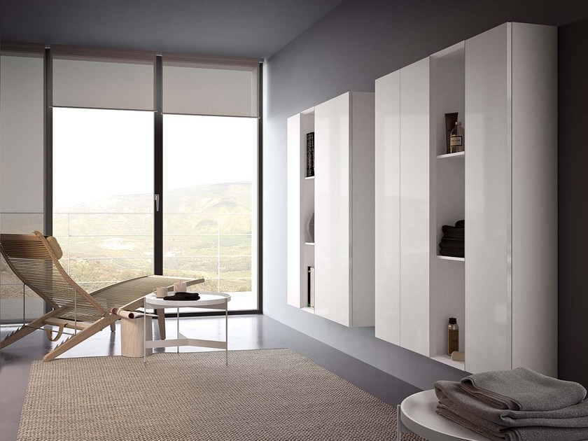 Lacquered suspended highboard SPAZIO S302 by PIANCA