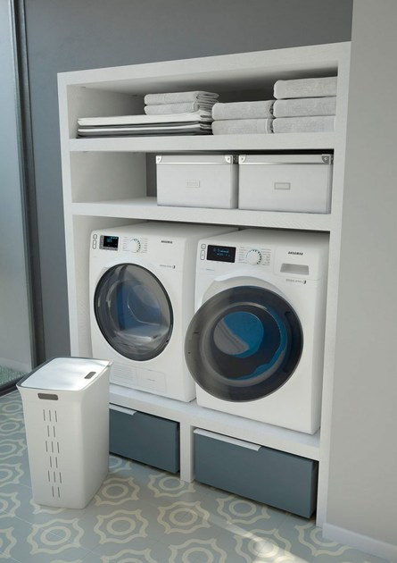 SPAZIO TIME 02 | Mobile lavanderia con lavatoio