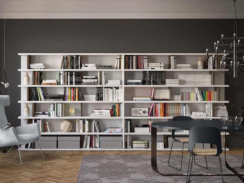 Open lacquered bookcase SPAZIOTECA SP028 by PIANCA