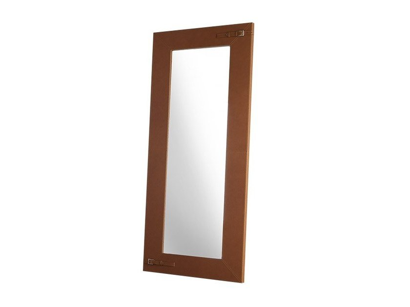 Freestanding rectangular framed mirror SPECCHIO by Chaarme