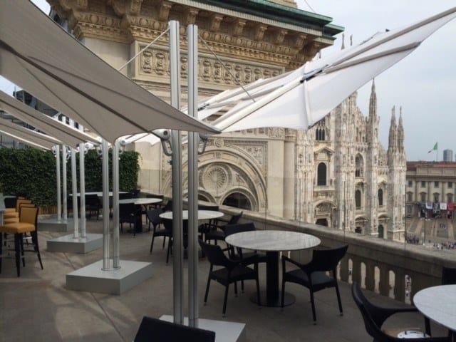 Double square Anodized aluminium Garden umbrella SPECTRA OPPOSITE by Umbrosa