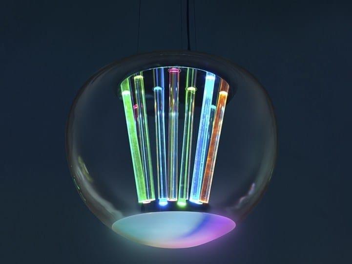 A Luce Light Diretta Spectral Lampada Soffiato Sospensione Led Artemide In Vetro rdtsQhCx
