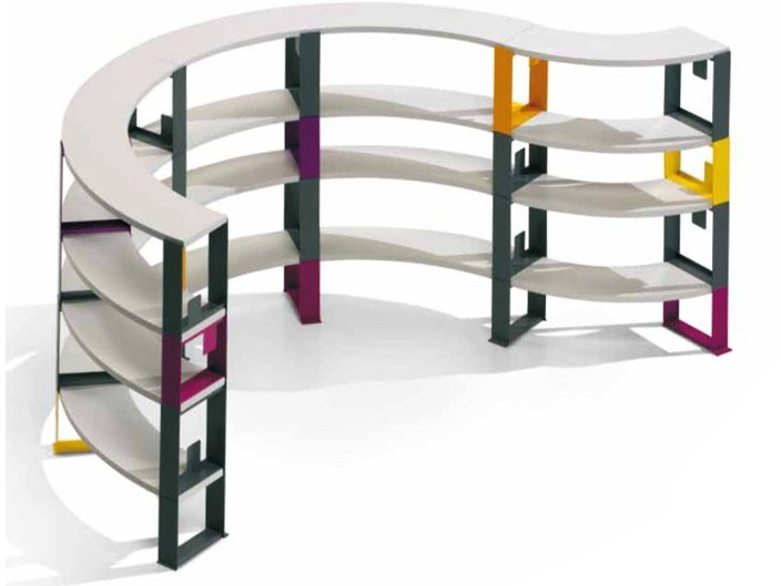 Open modular steel shelving unit SPEED by Felicerossi