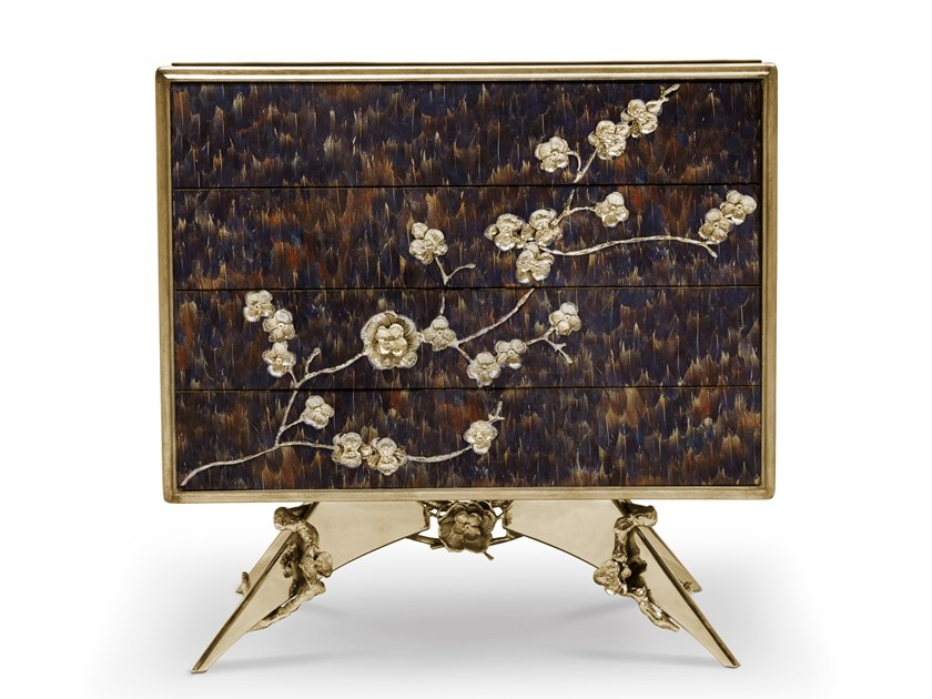 Lacquered rectangular bedside table with drawers SPELLBOUND | Bedside table by KOKET