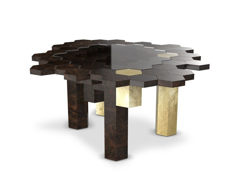 Wood veneer coffee table for living room SPENCE by Malabar