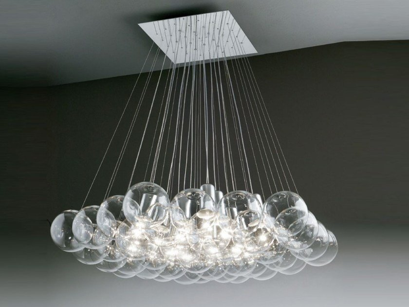 Direct light halogen crystal pendant lamp SPHERE 37 | Pendant lamp by SP Light and Design