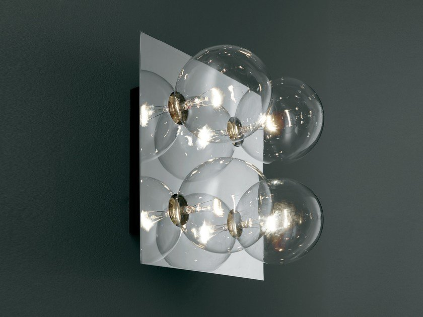 LED direct light halogen crystal wall lamp SPHERE   Wall lamp by SP Light and Design