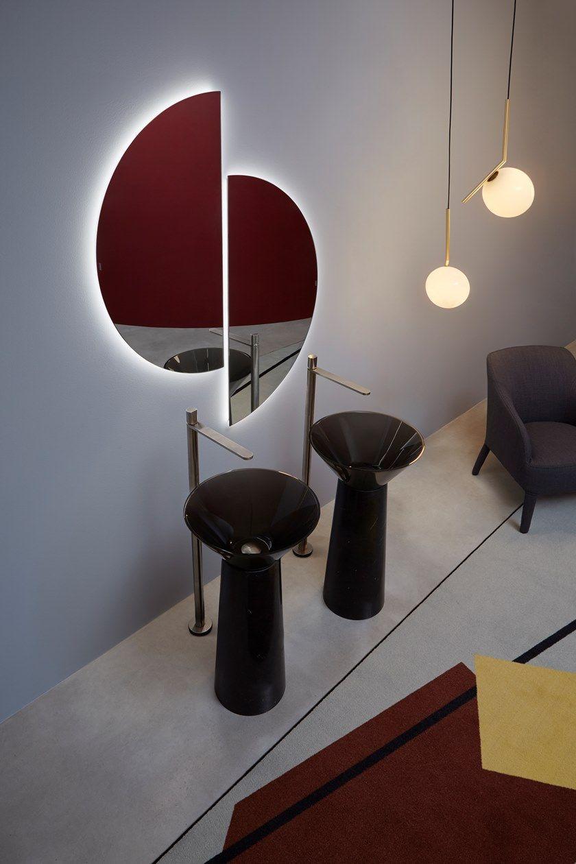 Pareti A Specchio Design specchio da parete spicchio - antonio lupi design