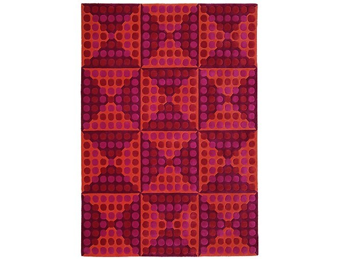 Wool rug with geometric shapes SPIEGEL by Verpan