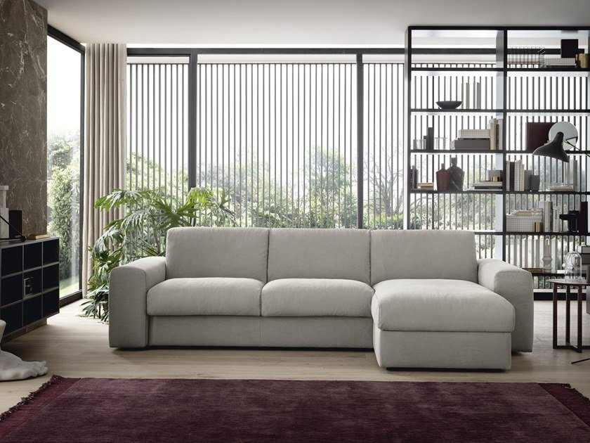 4 seater fabric sofa bed SPIKE | Sofa bed with chaise longue by Felis