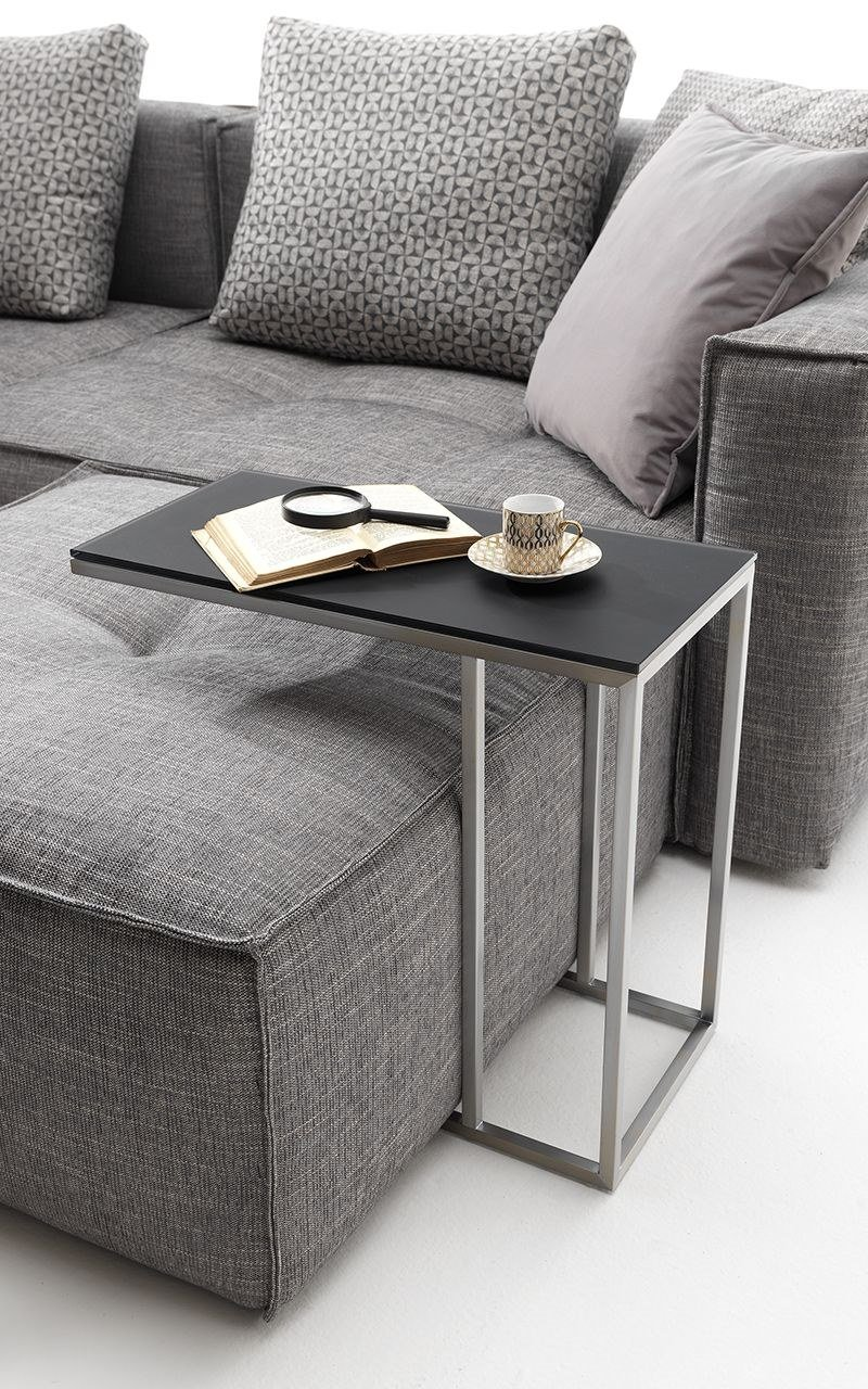Contemporary style rectangular metal side table SPIKE by Flexstyle