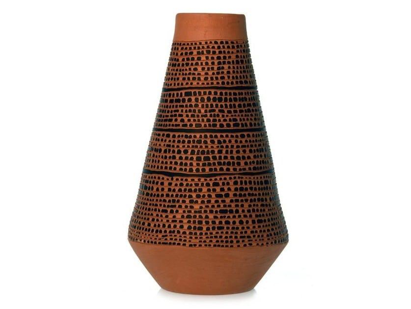 Terracotta vase SPIRAL II by Kiasmo