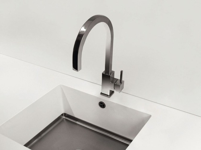 Countertop 1 hole stainless steel kitchen mixer tap SPIRIT SP-110 by Nivito