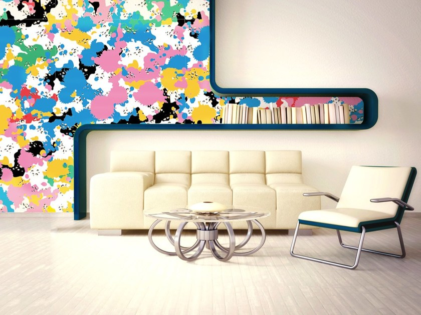 Pop art nonwoven wallpaper SPLASH by MyCollection.it