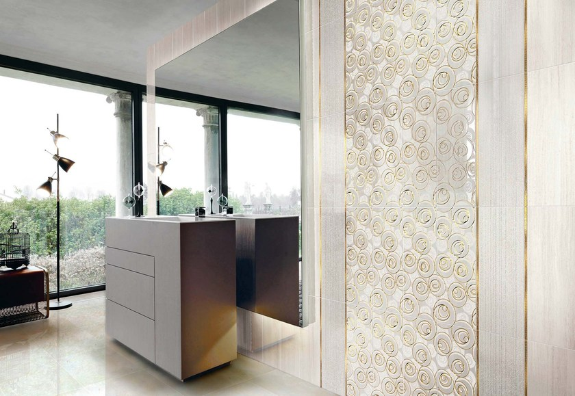 Double-fired ceramic wall tiles SPLENDIDA SHINY CURL by CERAMICHE BRENNERO