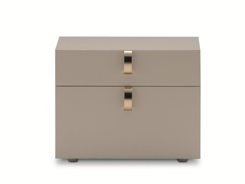 Lacquered bedside table with drawers SPLENDOR | Bedside table by Flou