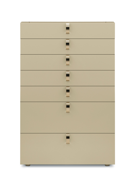 Free standing lacquered chest of drawers SPLENDOR   Chest of drawers by Flou