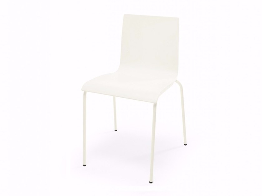 Stackable wooden chair SPLIT | Chair by Adico