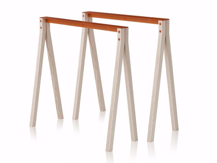 Tischbock aus aluminium und holz split trestle by nomess for Tischbock design