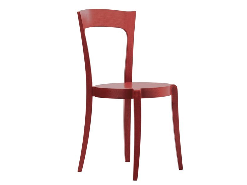 Stackable open back beech chair SPOCK SE01 by New Life