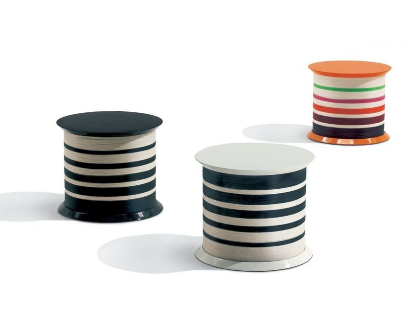 Low lacquered round coffee table SPOOL by MissoniHome