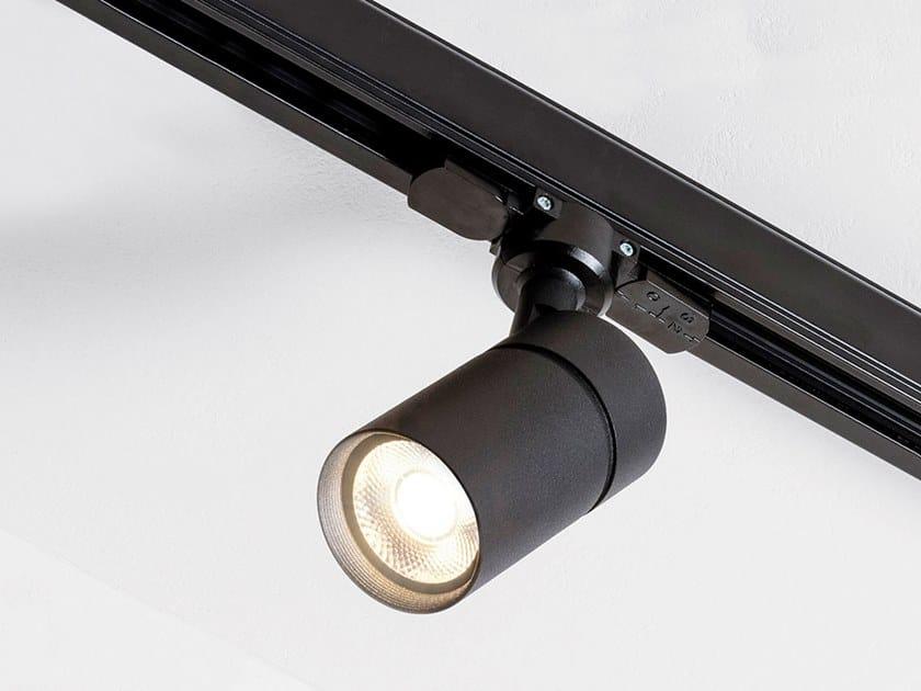 Illuminazione a binario a LED in alluminio verniciato a polvere SPOT TORCH TRACK by HER