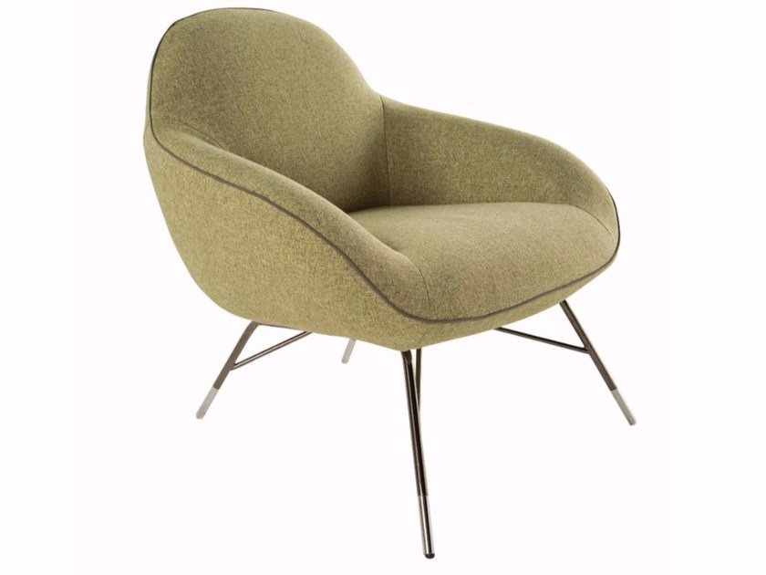 Fabric armchair with armrests SPOUTNIK by ROCHE BOBOIS