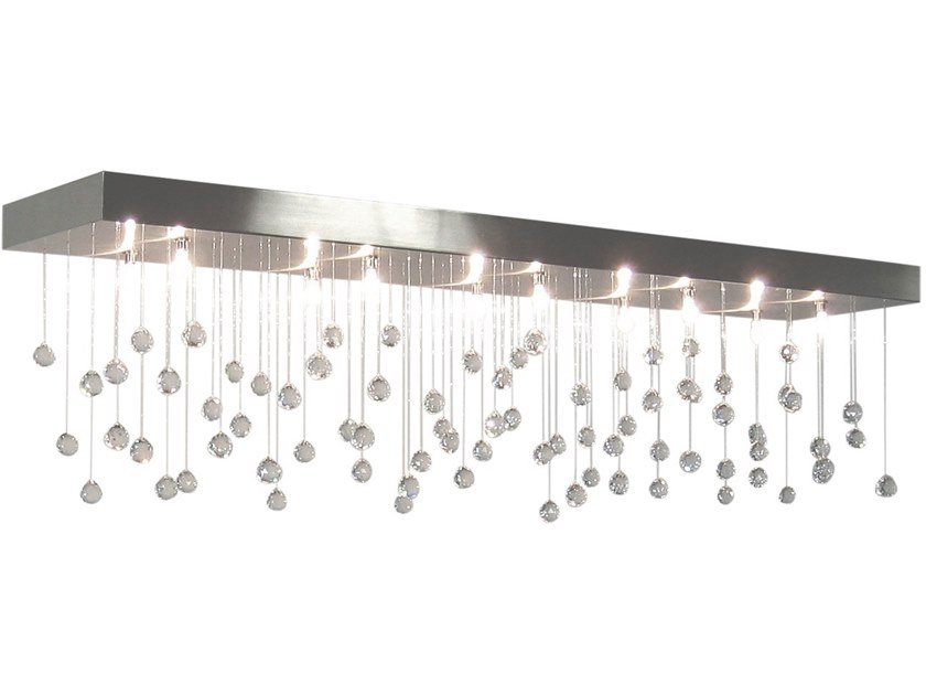 Direct light metal ceiling lamp with crystals SPRANKLING C10 by ILFARI