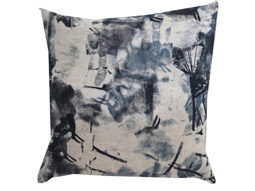 Square fabric cushion SPRAY by Birgit Morgenstern Studios