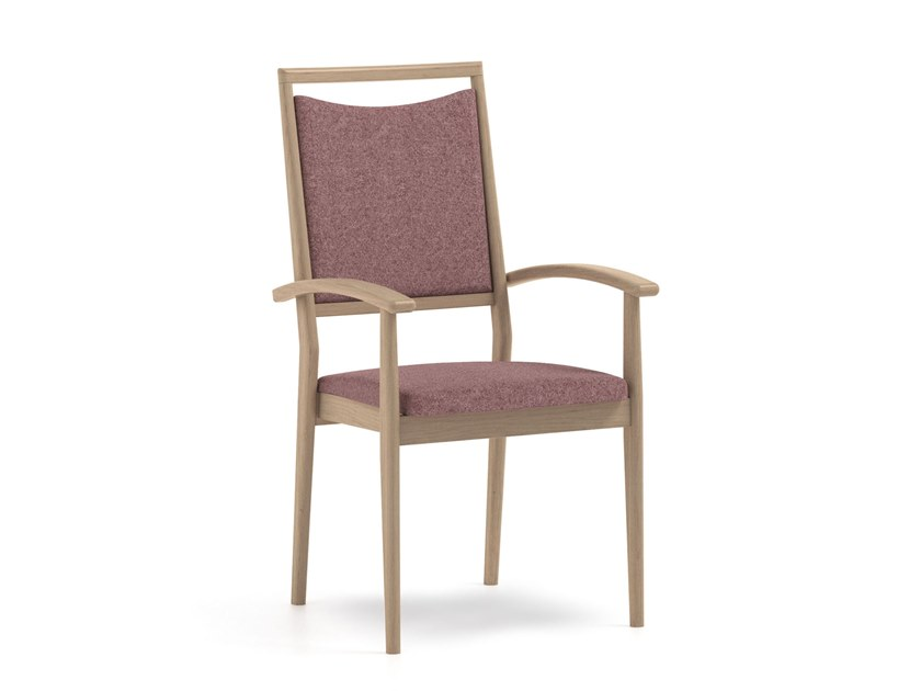Stackable fabric chair with armrests SPRING | HEALTH & CARE | Chair with armrests by PIAVAL