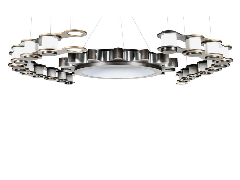 Lampada a sospensione a LED in acciaio SPROCKET by Karice