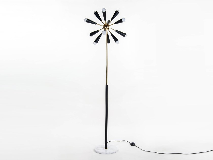 Lampada da terra in ottone SPUTNIK  818d7cf2721
