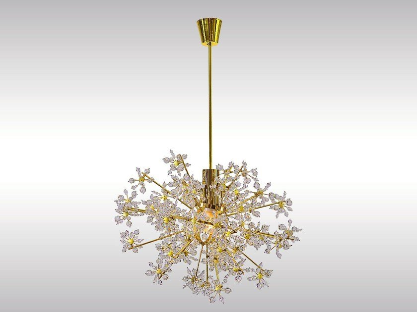 Pendant lamp with crystals SPUTNIK by Woka Lamps Vienna