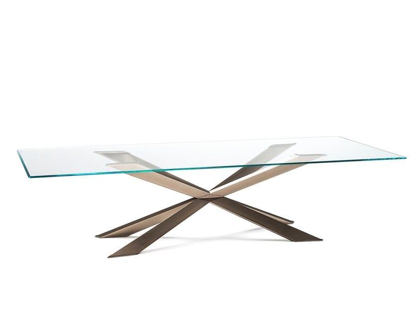 Crystal table SPYDER by Cattelan Italia