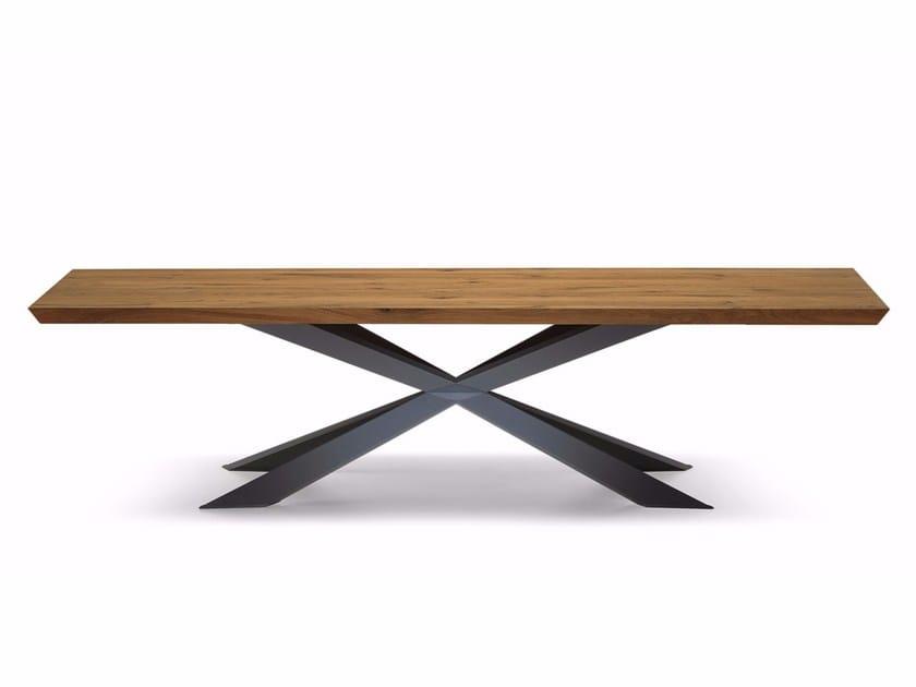 Rectangular wooden table SPYDER WOOD by Cattelan Italia