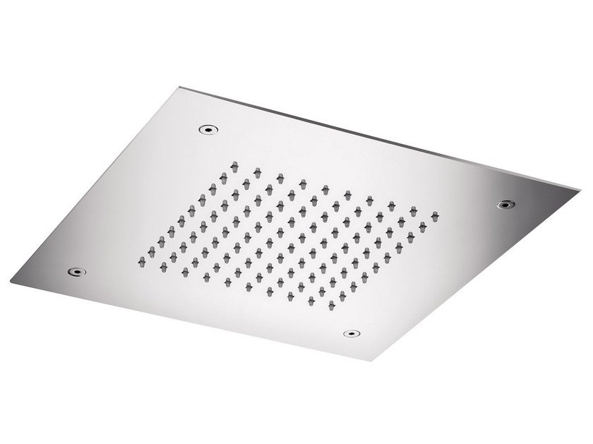 Ceiling mounted built-in stainless steel overhead shower SQ0-05   Ceiling mounted overhead shower by Rubinetterie Mariani