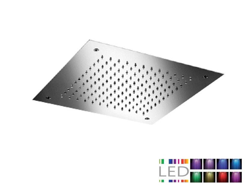 LED built-in stainless steel overhead shower for chromotherapy SQ0-L7 | Overhead shower for chromotherapy by Rubinetterie Mariani