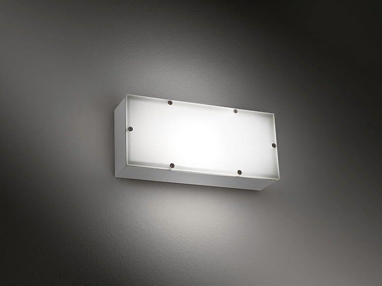 Direct light aluminium Outdoor wall Lamp SQUADRA TR by BEL-LIGHTING